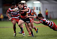 Tim Bateman in action during the Mitre 10 Cup Premiership and Ranfurly Shield match between Canterbury and Counties Manukau at AMI Stadium in Christchurch, New Zealand on Wednesday, 13 September 2017. Photo: Martin Hunter / lintottphoto.co.nz