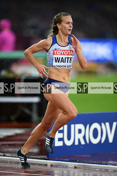 Lennie WAITE (GBR) in the womens 3000m steeplechase heats. IAAF world athletics championships. London Olympic stadium. Queen Elizabeth Olympic park. Stratford. London. UK. 09/08/2017. ~ MANDATORY CREDIT Garry Bowden/SIPPA - NO UNAUTHORISED USE - +44 7837 394578