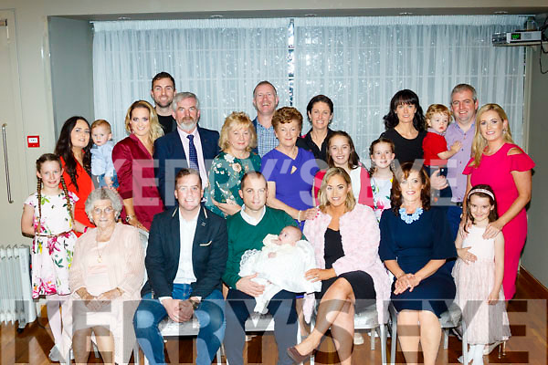 Noelle&Eoin Colgan from Tralee Christened baby Grace last Saturday in St John's church, Tralee by Fr Francis Nolan and after to a family celebration in the Ballyroe Heights hotel.