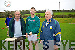 Chairman Dan McCarthy, Captain Mike Lynch and Trainer Paddy Williams at the Crotta O'Neills Training on Sunday.