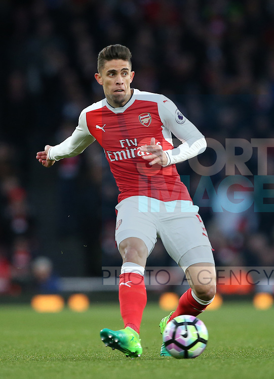 Arsenal's Gabriel in action during the Premier League match at the Emirates Stadium, London. Picture date: April 26th, 2017. Pic credit should read: David Klein/Sportimage