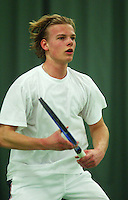 10-3-06, Netherlands, tennis, Rotterdam, National indoor junior tennis championchips, Rutger Meijer
