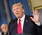 United States President Donald J. Trump makes a statement on health care at The White House in Washington, DC, July 24, 2017. <br /> Credit: Chris Kleponis / CNP