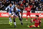 CD Leganes' Allan Romeo Nyom celebrates goal during La Liga match between CD Leganes and Getafe CF at Butarque Stadium in Leganes, Spain. December 07, 2018. (ALTERPHOTOS/A. Perez Meca)