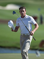 Brett Rumford of Australia in action during his third round at the Emirates Australian Open Golf