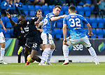 St Johnstone v Dundee&hellip;25.08.18&hellip;   McDiarmid Park     SPFL<br />Liam Craig and Kharl Madianga<br />Picture by Graeme Hart. <br />Copyright Perthshire Picture Agency<br />Tel: 01738 623350  Mobile: 07990 594431