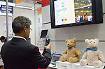 November 9th, 2011 : Tokyo, Japan – Bear Cub social robot reacts during International Robot Exhibition 2011. This show is held to showcase new robots and high technology equipments at the Tokyo International Exhibit Center. International Robot Exhibition 2011 runs from November 9 – 12. (Photo by Yumeto Yamazaki/AFLO)