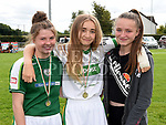 Tara Sheridan, Lauren Crosby and Jessica Rooney at the Duleek GFC family fun day.   Photo:Colin Bell/pressphotos.ie