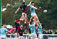 Sean Robinson (captain) of Newcastle Falcons during the Greene King IPA Championship match between London Scottish Football Club and Newcastle Falcons at Richmond Athletic Ground, Richmond, United Kingdom on 12 October 2019. Photo by Liam McAvoy.