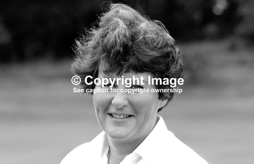 Jane Allen, amateur golfer, N Ireland, 19850803JA1..Copyright Image from Victor Patterson, 54 Dorchester Park, Belfast, UK, BT9 6RJ..Tel: +44 28 9066 1296.Mob: +44 7802 353836.Voicemail +44 20 8816 7153.Skype: victorpattersonbelfast.Email: victorpatterson@me.com.Email: victorpatterson@ireland.com (back-up)..IMPORTANT: If you wish to use this image or any other of my images please go to www.victorpatterson.com and click on the Terms & Conditions. Then contact me by email or phone with the reference number(s) of the image(s) concerned.