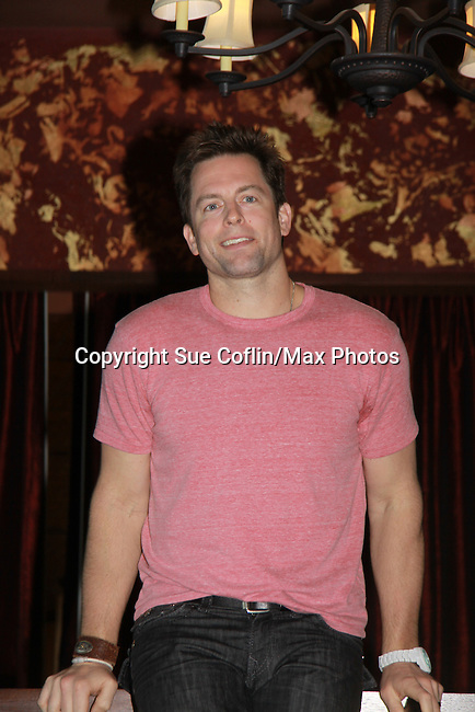 """Michael Muhney at Drama Brunch - The Young & The Restless stars came for the fans with a brunch and photos during the Soap Opera Festivals Weekend - """"All About The Drama"""" on March 25, 2012 at Bally's Atlantic City, Atlantic City, New Jersey.  (Photo by Sue Coflin/Max Photos)"""
