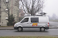 - SKY TV, van for mobile production with satellite connection<br /> <br /> - SKY TV, furgone regia mobile con collegamento satellitare
