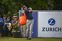 Matt Kuchar (USA) watches his tee shot on 18 during Round 2 of the Zurich Classic of New Orl, TPC Louisiana, Avondale, Louisiana, USA. 4/27/2018.<br /> Picture: Golffile | Ken Murray<br /> <br /> <br /> All photo usage must carry mandatory copyright credit (&copy; Golffile | Ken Murray)