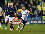 Billy Sharp of Sheffield United is challenged by George Saville of Millwall during the championship match at The Den Stadium, Millwall. Picture date 2nd December 2017. Picture credit should read: Robin Parker/Sportimage