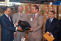 Entregas de materiales al Partido Revolucionario Dominicano para la celebración de su Convención en la sede de la Junta Central Electoral.