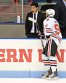 Rob Rassey, Tyler McNeely (Northeastern - 94) - The visiting Rensselaer Polytechnic Institute Engineers tied their host, the Northeastern University Huskies, 2-2 (OT) on Friday, October 15, 2010, at Matthews Arena in Boston, MA.
