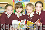 This is the read thing: Pupils of St Joseph's Primary School Ballybunion who are taking part in the Reading Buddies project. L-r Laura Rohan, Rebecca Moriarty, Bernard O'Callaghan and Sinead Hanrahan.