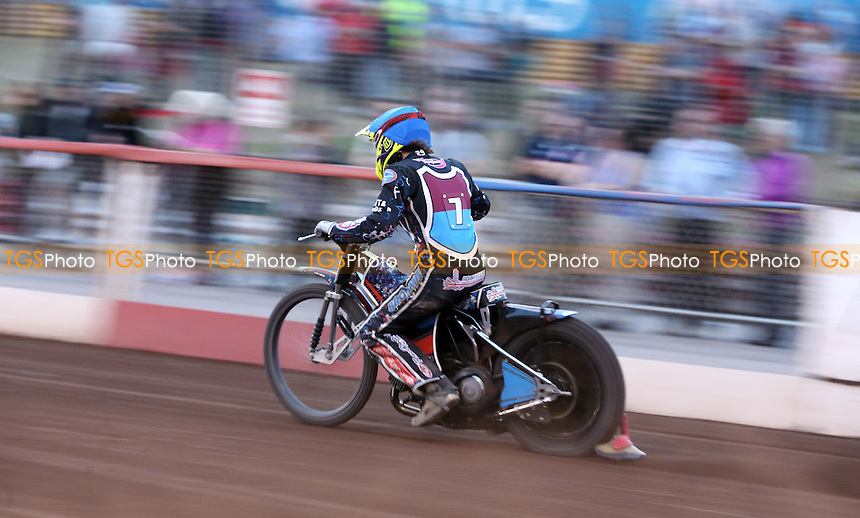 Adam Ellis of Lakeside Hammers - Lakeside Hammers vs Belle Vue Aces, Elite League Speedway at the Arena Essex Raceway, Pufleet - 10/07/15 - MANDATORY CREDIT: Rob Newell/TGSPHOTO - Self billing applies where appropriate - 0845 094 6026 - contact@tgsphoto.co.uk - NO UNPAID USE