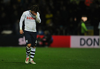 Preston North End's Ben Pearson leaves the pitch after being sent off<br /> <br /> Photographer Kevin Barnes/CameraSport<br /> <br /> The EFL Sky Bet Championship - Preston North End v Leeds United -Tuesday 9th April 2019 - Deepdale Stadium - Preston<br /> <br /> World Copyright &copy; 2019 CameraSport. All rights reserved. 43 Linden Ave. Countesthorpe. Leicester. England. LE8 5PG - Tel: +44 (0) 116 277 4147 - admin@camerasport.com - www.camerasport.com