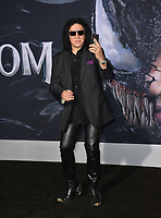 "LOS ANGELES, CA. October 01, 2018: Gene Simmons at the world premiere for ""Venom"" at the Regency Village Theatre.<br /> Picture: Paul Smith/Featureflash"