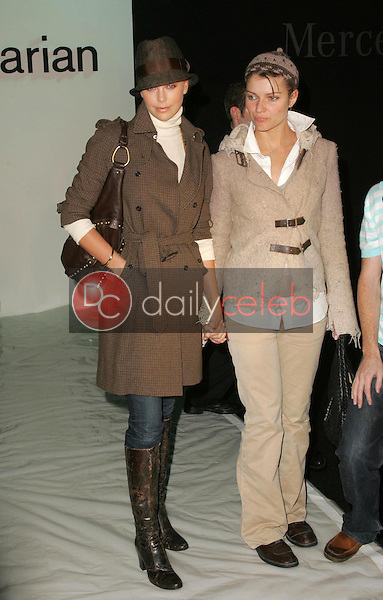 Charlize Theron and friend<br />attending the second day of Mercedes-Benz Fashion Week. Smashbox, Culver City, CA. 10-17-05<br />Dave Edwards/DailyCeleb.com 818-249-4998