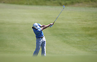 Peter Uihlein (USA) plays his second shot to the 8th during Round Two of the 2015 Nordea Masters at the PGA Sweden National, Bara, Malmo, Sweden. 05/06/2015. Picture David Lloyd | www.golffile.ie