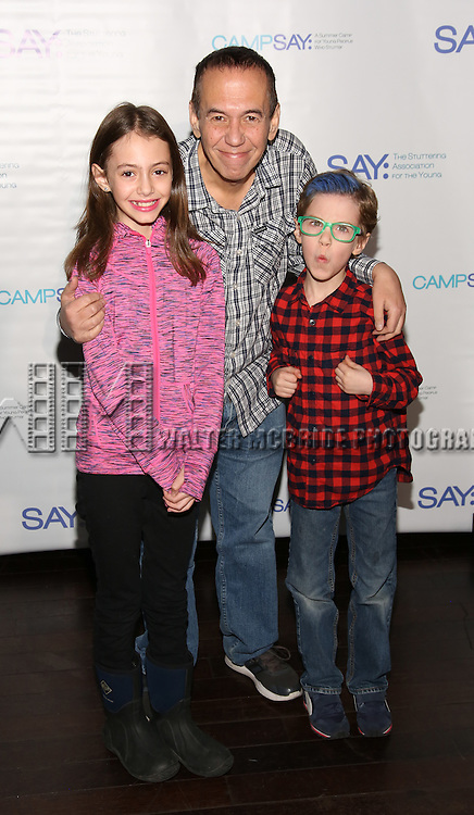 Lily Gottfried, Gilbert Gottfried and Max Gottfried attend the 5th Annual Paul Rudd All-Star Bowling Benefit for (SAY) at Lucky Strike Lanes on February 13, 2017 in New York City.