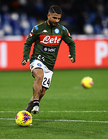 6th January 2020; Stadio San Paolo, Naples, Campania, Italy; Serie A Football, Napoli versus Inter Milan; Lorenzo Insigne oof Napoli pre-game warm up - Editorial Use