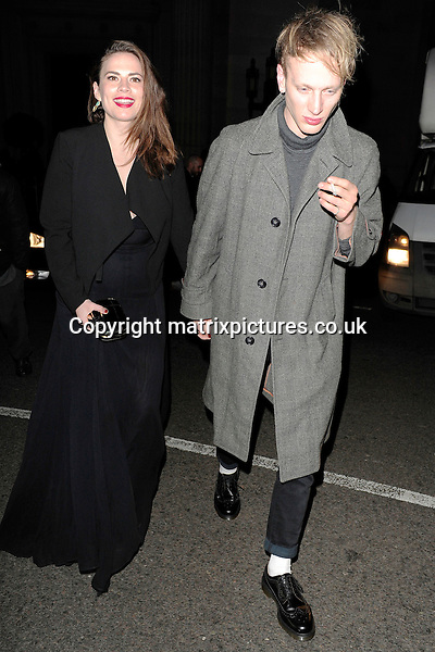 NON EXCLUSIVE PICTURE: MATRIXPICTURES.CO.UK<br /> PLEASE CREDIT ALL USES<br /> <br /> WORLD RIGHTS<br /> <br /> British-American actress Hayley Atwell attending The BRIT Awards 2015 Warner Music Group afterparty, at The Freemasons' Hall in London. <br /> <br /> FEBRUARY 25th 2015<br /> <br /> REF: ASI 15640