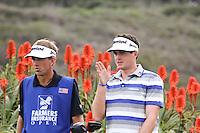 23 JAN 13  Caddy Steve Hale with Keegan Bradley during The Farmers Insurance Open at Torrey Pines Golf Course in La Jolla, California. (photo:  kenneth e.dennis / kendennisphoto.com)