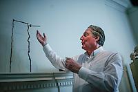 Nicholas Grindley shows a piece of art to guests during the Asian Art Week art in New York. 11.03.2015. Eduardo MunozAlvarez/VIEWpress.