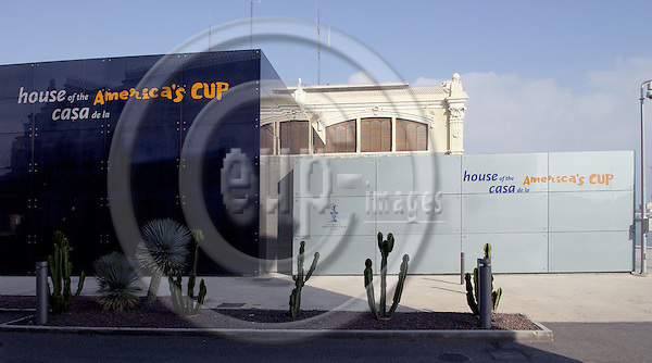 Valencia-Spain, 28 December 2007---Pavilion with the exhibition of the America ' s Cup, in the port of Valencia; architecture---Photo: Horst Wagner / eup-images