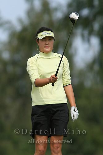 February 18, 2006; Kahuku, HI - Soo Young Kim lines up her tee shot during the final round of the LPGA SBS Open at Turtle Bay Resort...Mandatory photo credit: Darrell Miho.© Darrell Miho