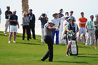 Phil Mickelson (USA) on the 9th during Round 3 of the Saudi International at the Royal Greens Golf and Country Club, King Abdullah Economic City, Saudi Arabia. 01/02/2020<br /> Picture: Golffile | Thos Caffrey<br /> <br /> <br /> All photo usage must carry mandatory copyright credit (© Golffile | Thos Caffrey)
