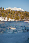 Mount Katahdin over the Penobscot River, Piscataquis County, ME
