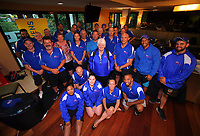 2018 Hamilton Sevens team liaison officers group photo at Ibis Hotel in Hamilton, New Zealand on Thursday, 1 February 2018. Photo: Dave Lintott / lintottphoto.co.nz
