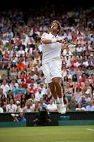 24-06-10, Tennis, England, Wimbledon, Robin Haase  gaat als een raket in zijn partij tegen Rafael Nadal