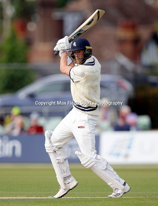 Calum Haggett bats for Kent during the Specsavers County Championship Div 2 game between Kent and Sussex at the St Lawrence Ground, Canterbury, on May 11, 2018