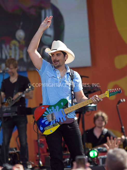 www.acepixs.com<br /> <br /> June 24 2016, New York City<br /> <br /> Brad Paisley performs on ABC's 'Good Morning America' at the SummerStage in Central Park on June 24, 2016 in New York City.<br /> <br /> By Line: Serena Xu/ACE Pictures<br /> <br /> <br /> ACE Pictures Inc<br /> Tel: 6467670430<br /> Email: info@acepixs.com<br /> www.acepixs.com