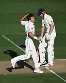 25th March 2018, Auckland, New Zealand;  Trent Boult celebrates the wicket of Cook. New Zealand versus England. 1st day-night test match. Eden Park, Auckland, New Zealand. Day 4