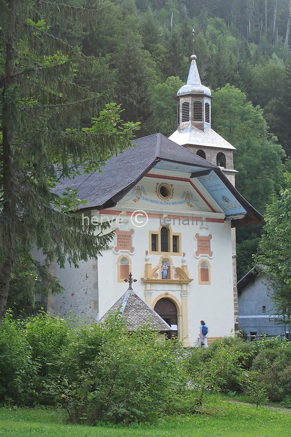 France, Haute-Savoie (74), Les Contamines-Monjoie, chapelle Notre-Dame-de-la-Gorge s // France, Haute Savoie, Les Contamines Monjoie, chapel Notre Dame de la Gorge