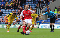 Fleetwood Town's Paddy Madden scores his side's second goal from the penalty spot<br /> <br /> Photographer David Shipman/CameraSport<br /> <br /> The EFL Sky Bet League One - Oxford United v Fleetwood Town - Saturday August 11th 2018 - Kassam Stadium - Oxford<br /> <br /> World Copyright &copy; 2018 CameraSport. All rights reserved. 43 Linden Ave. Countesthorpe. Leicester. England. LE8 5PG - Tel: +44 (0) 116 277 4147 - admin@camerasport.com - www.camerasport.com