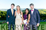 Enjoying the Killarney Schools Debs at Ballyroe Heights Hotel on Monday were l-r  Sean Blackwell, Rosanna Ryan, Tasmia Hoque and Rory Carroll