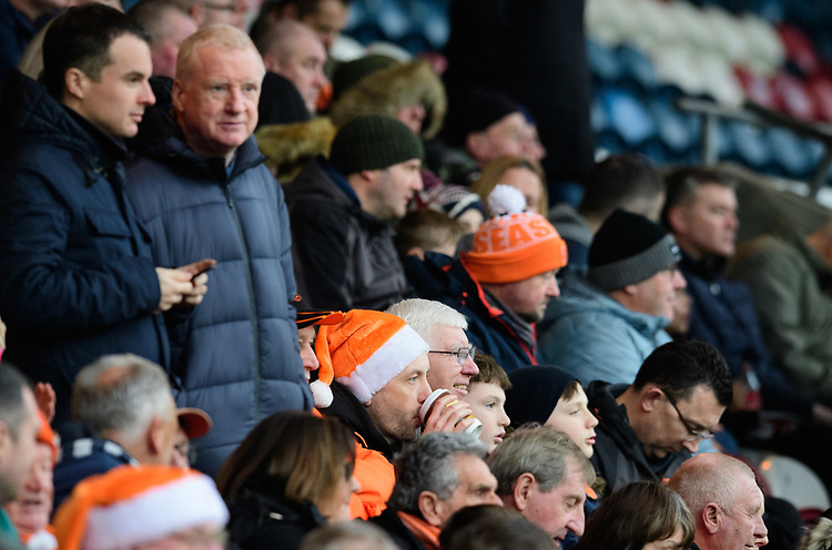 Blackpool fans enjoy the pre-match atmosphere <br /> <br /> Photographer Chris Vaughan/CameraSport<br /> <br /> The EFL Sky Bet League One - Rochdale v Blackpool - Wednesday 26th December 2018 - Spotland Stadium - Rochdale<br /> <br /> World Copyright © 2018 CameraSport. All rights reserved. 43 Linden Ave. Countesthorpe. Leicester. England. LE8 5PG - Tel: +44 (0) 116 277 4147 - admin@camerasport.com - www.camerasport.com