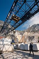 Italien, Toskana, Marmorabbau bei Carrara