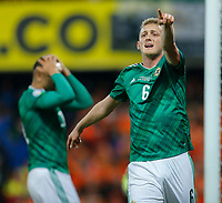 16th November 2019; Windsor Park, Belfast, Antrim County, Northern Ireland; European Championships 2020 Qualifier, Northern Ireland versus Netherlands; George Saville of Northern Ireland calls for a corner - Editorial Use