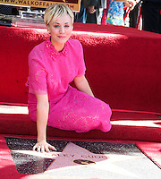 Kaley Cuoco Honored With Star On The Hollywood Walk Of Fame