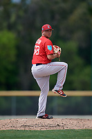Boston Red Sox pitcher Robby Sexton (68) during a Minor League Spring Training game against the Baltimore Orioles on March 20, 2018 at Buck O'Neil Complex in Sarasota, Florida.  (Mike Janes/Four Seam Images)
