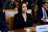Dr. Fiona Hill, former Senior Director for Europe and Russia, National Security Council (NSC), sits at the witness table as she waits to testify during the US House Permanent Select Committee on Intelligence public hearing as they investigate the impeachment of US President Donald J. Trump on Capitol Hill in Washington, DC on Thursday, November 21, 2019.<br /> Credit: Ron Sachs / CNP<br /> (RESTRICTION: NO New York or New Jersey Newspapers or newspapers within a 75 mile radius of New York City)
