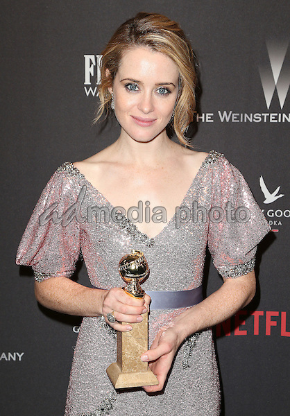 08 January 2016 - Beverly Hills, California - Claire Foy. 2017 Weinstein Company And Netflix Golden Globes After Party held at the Beverly Hilton. Photo Credit: F. Sadou/AdMedia